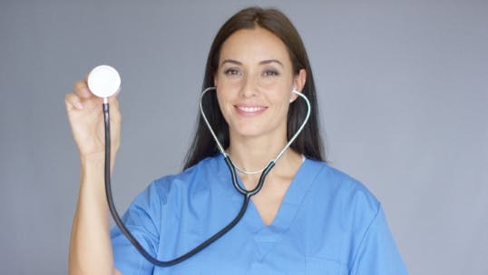Thumbnail for Smiling Friendly Nurse Or Doctor With Stethoscope