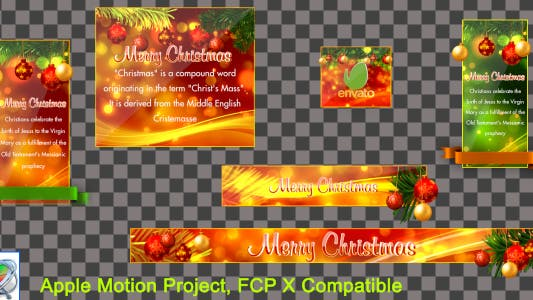 Thumbnail for Christmas Lowerthirds and Banners - Apple Motion