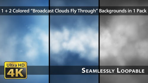 Broadcast Clouds Fly Through - Pack 01