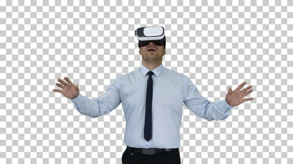 Thumbnail for Astonished Young Businessman Wearing Vr Glasses Concept of The