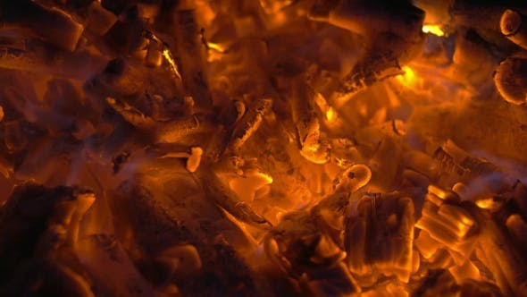 Thumbnail for Wood Embers in Campfire or Fireplace