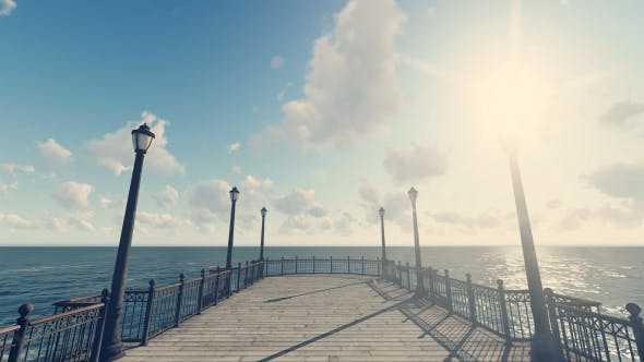 Thumbnail for 3D Old Pier - Sunny Day