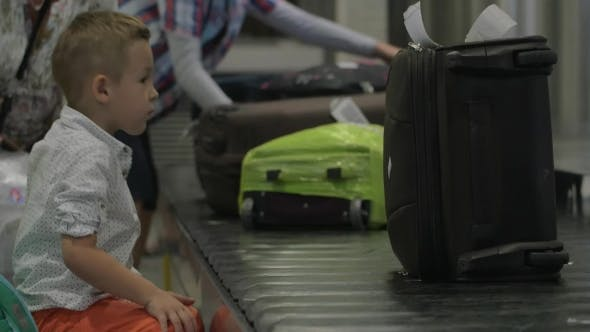 Thumbnail for Little Child at Baggage Claim Area