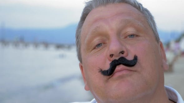 Thumbnail for Mature Man with Funny False Moustache