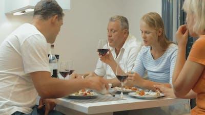 Quiet Family Dinner