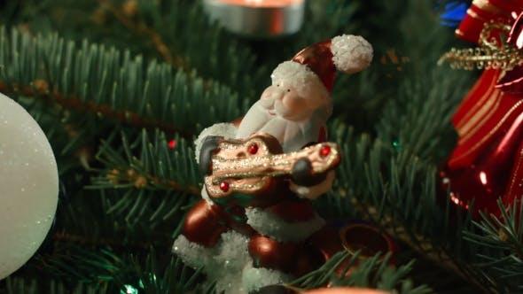 Thumbnail for Christmas Tree with Santa and Balloons