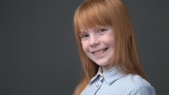 Thumbnail for Cute Ginger Girl Smiling