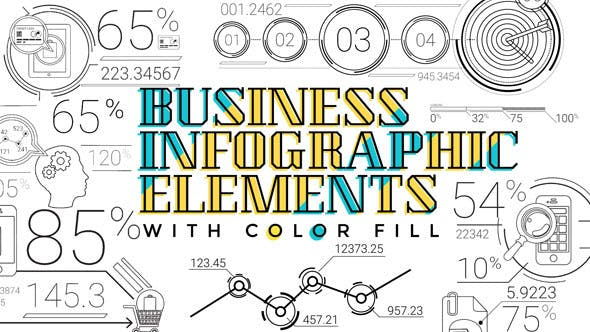 Thumbnail for 30 Line Infographic Elements