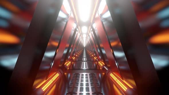 Science Fiction corridor animation