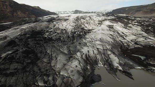 Cover Image for Jagged Crevasse, Solheimajokull Glacier