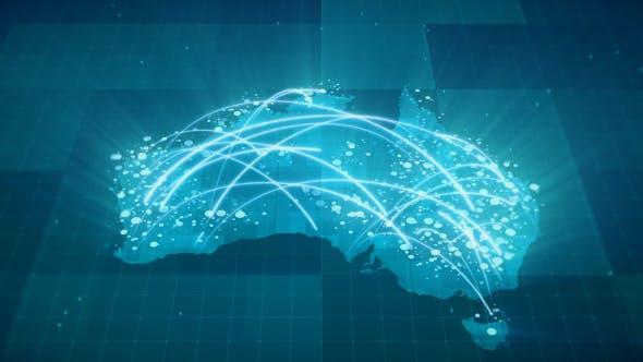 Globalization Australia Map Animation HD von rodionova auf ...