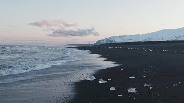Thumbnail for Ice On The Beach In Iceland