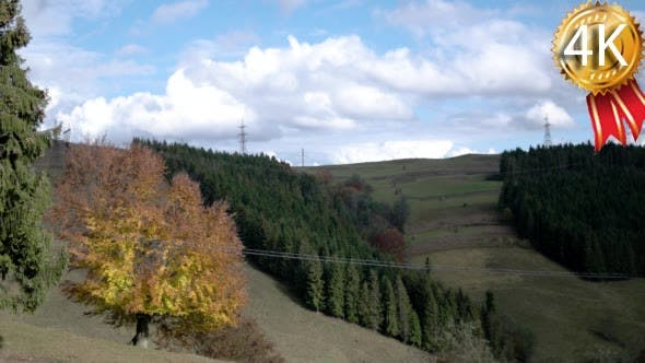 Autumnal Landscape in Carpatian Mountains,