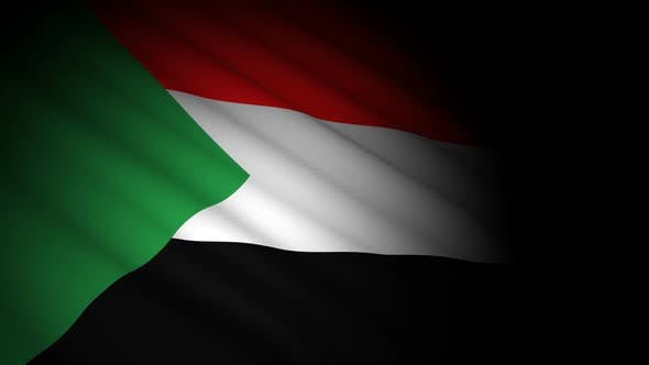 Cover Image for Sudan Flag Blowing in Wind