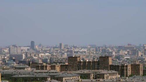Moscow Panorama. Cityscape of Russian Capital