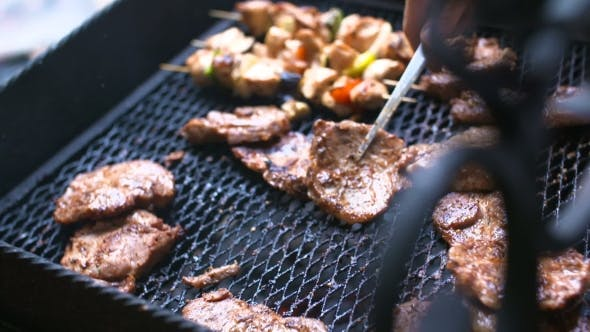 Thumbnail for grilling meat - barbecue cooking background