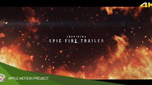 Thumbnail for Epic Fire Trailer - Apple Motion