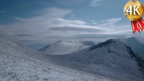 Snow on Carpathian Mountain