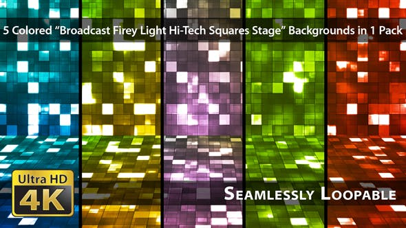 Thumbnail for Broadcast Firey Light Hi-Tech Squares Stage - Pack 01