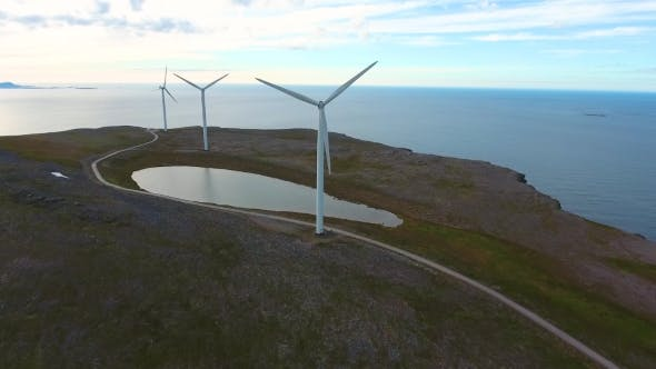 Windmills for Electric Power Production Havoygavelen Windmill Park Norway