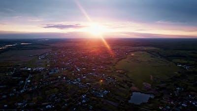 Amazing Sunrise of Ukrainian Countryside