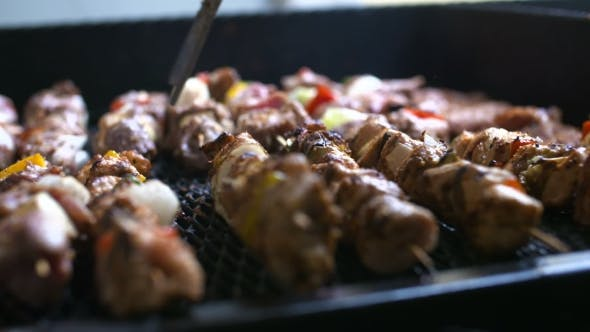 Thumbnail for Barbecue With Delicious Grilled Meat On Grill. Barbecue Party.