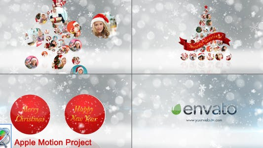 Thumbnail for Christmas Wishes Opener Multi Video Image - Apple Motion