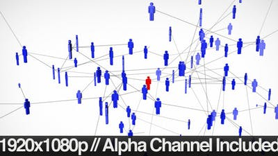 Social Network of People Expanding + Alpha Channel