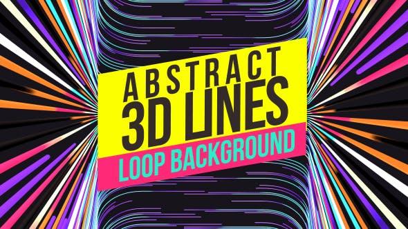 Colorful 3D Lines