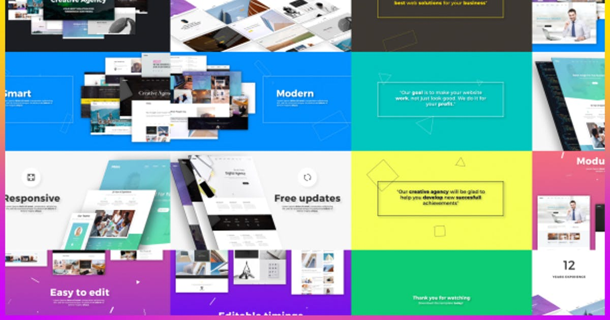 Download Creative Agency // Website Presentation by Nullifier