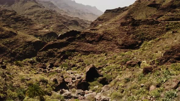 Thumbnail for Amazing Landscape Shot of the Gran Canaria Valley in Summer