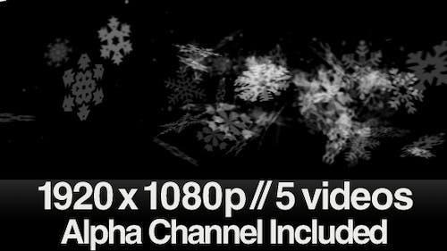 5 Snow Swishing Across the Screen Videos - ALPHA