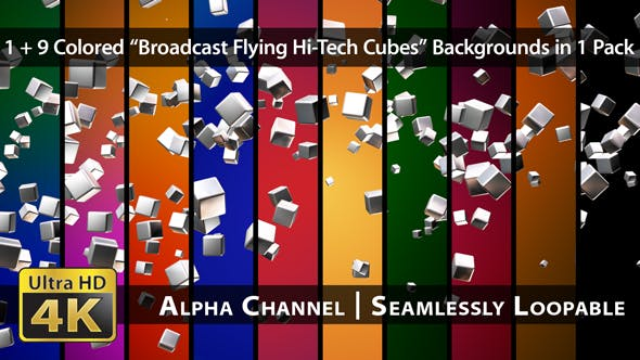 Thumbnail for Broadcast Flying Hi-Tech Cubes - Pack 01