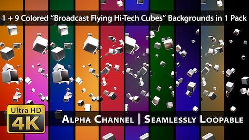 Broadcast Flying Hi-Tech Cubes - Pack 02