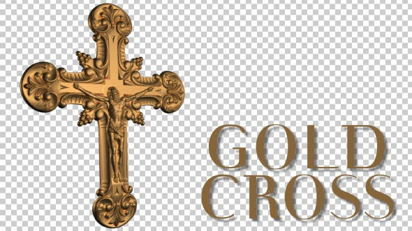 Cover Image for Worship Crucifix - Gold Cross