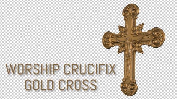 Thumbnail for Worship Crucifix - Gold Cross