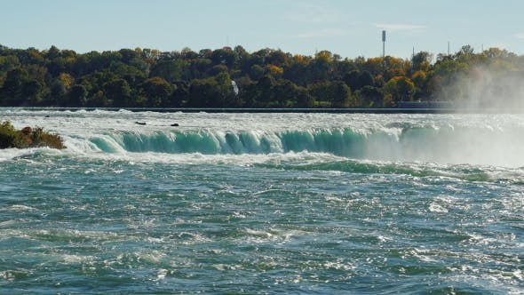 Thumbnail for The Powerful Energy of Nature - Niagara Falls. The View From the American Side. In the Picture, One