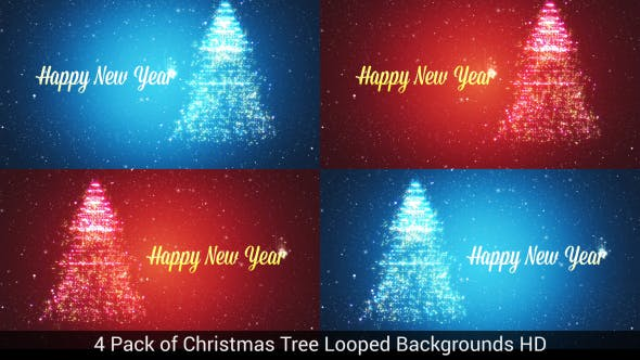 Cover Image for 4 Pack of Christmas Tree Backgrounds