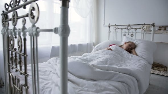 Thumbnail for Little Girl Sleeping in Her Bed