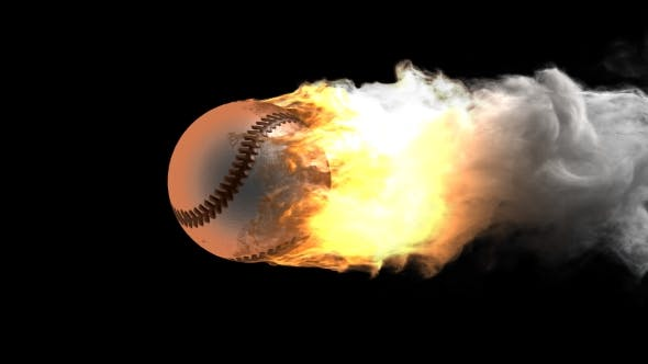 Thumbnail for Burning Baseball Ball with Alpha Channel