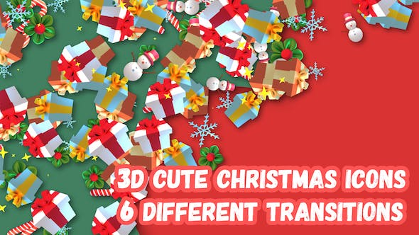 Thumbnail for 3D Christmas Gifts Transition