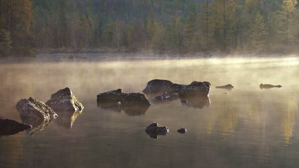 Cover Image for Morning Lake and Fog After Sunrise