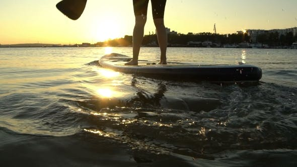 Thumbnail for Beautiful Woman on Stand Up Paddle Board