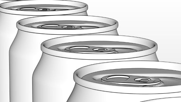 Thumbnail for White Generic Aluminum Cans on Industrial Conveyor