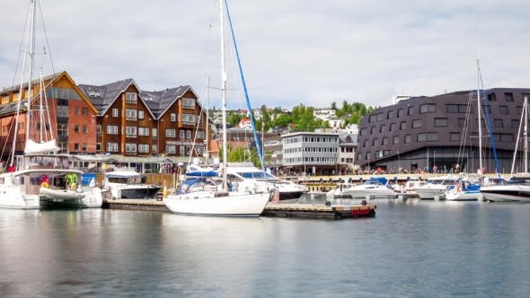 Cover Image for Marina in Tromso, North Norway