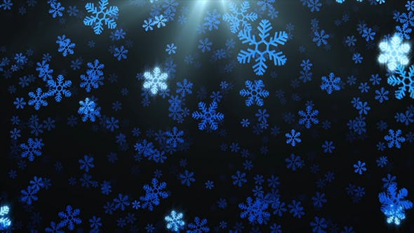 Thumbnail for Snowflakes Abstract Background 2