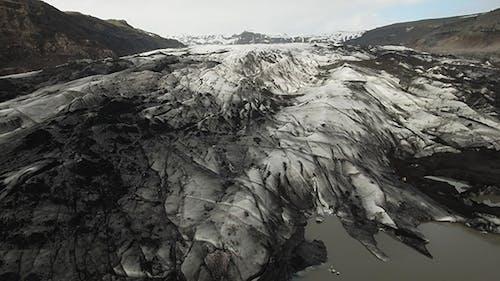 Jagged Crevasse, Solheimajokull Glacier