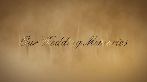 Wedding gold words