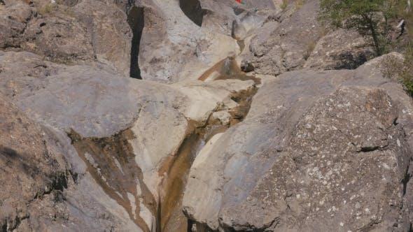 Mountain Stream Flowing Through Stones