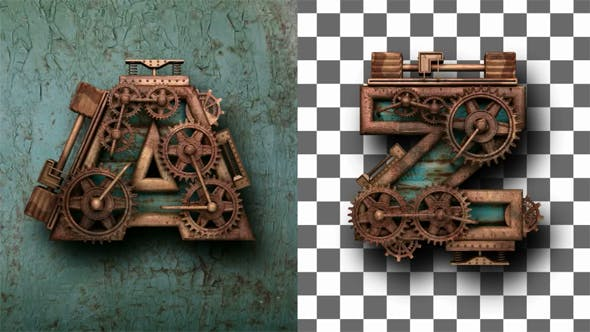 Thumbnail for Rusted Letters with Gears Mechanic